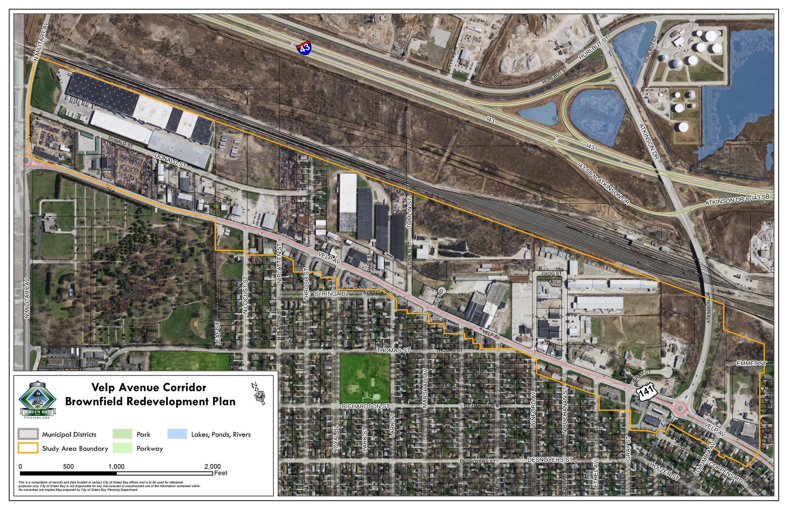 Velp Avenue Corridor Plan Map