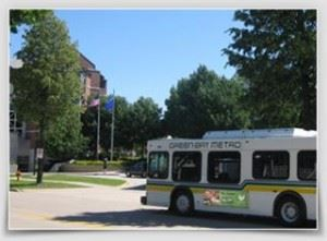 Green Bay Metro Bus turning onto a street